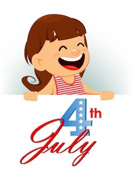 Carte de voeux joyeuse fête de l'indépendance