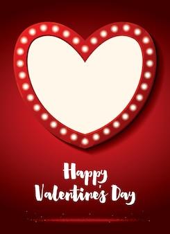 Carte de voeux joyeuse saint-valentin