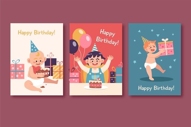 Carte de voeux joyeux anniversaire bébé