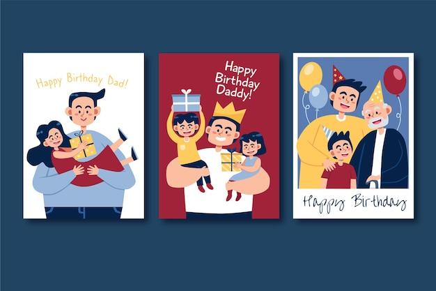 Carte de voeux joyeux anniversaire papa