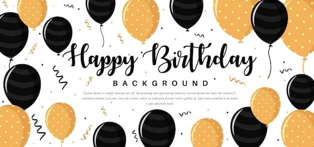 Carte de voeux de joyeux anniversaire vector