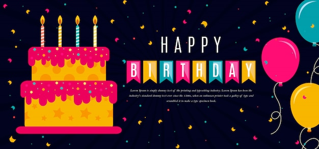 Carte de voeux joyeux anniversaire