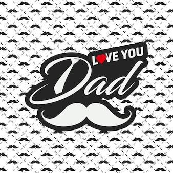 Carte de voeux joyeux fête des pères avec motif de fond