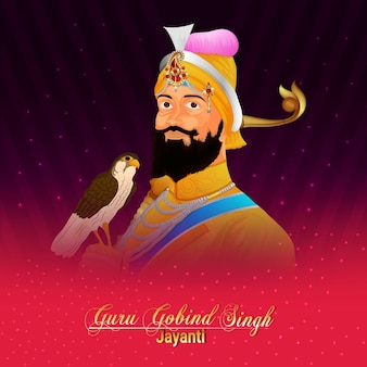 Carte de voeux joyeux guru gobind singh jayanti célébration