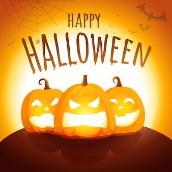Carte de voeux joyeux halloween
