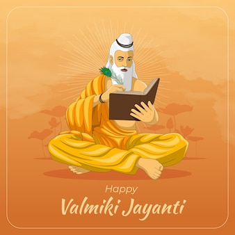 Carte de voeux joyeux maharishi valmiki jayanti