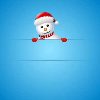 Carte de voeux joyeux noël bonhomme de neige