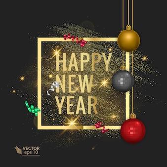 Carte de voeux joyeux noël et bonne année 2022