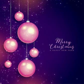 Carte de voeux joyeux noël et bonne année