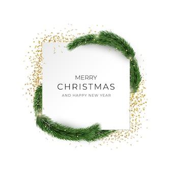 Carte de voeux joyeux noël et bonne année.