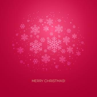 Carte de voeux joyeux noël avec des flocons de neige