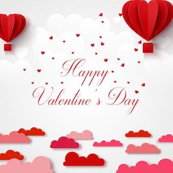 Carte de voeux joyeux saint valentin