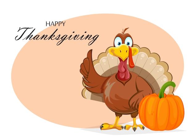 Carte de voeux joyeux thanksgiving day