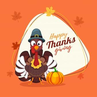 Carte de voeux joyeux thanksgiving.