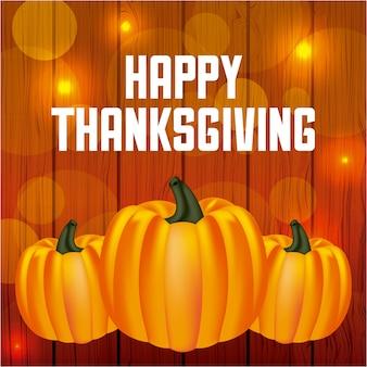 Carte de voeux joyeux thanksgiving