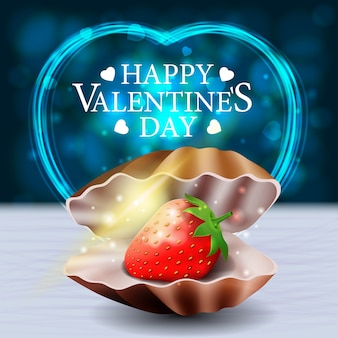 Carte de voeux lumineuse pour la saint-valentin