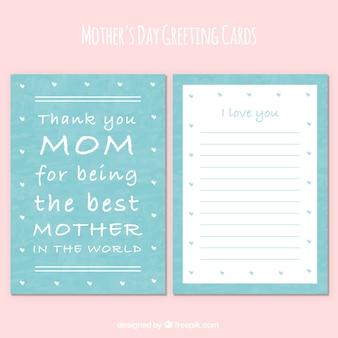 Carte de voeux avec le message du jour de mère