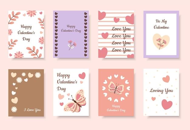 Carte de voeux mignonne saint valentin