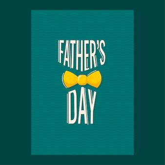 Carte de voeux ou modèle de conception avec texte et cri de la fête des pères
