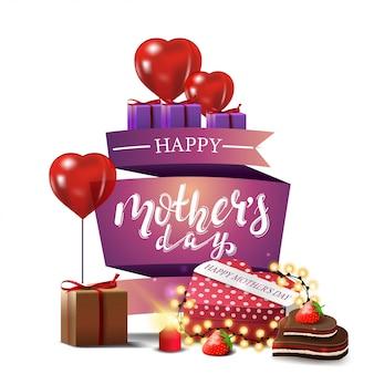 Carte de voeux moderne pour la fête des mères