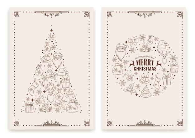 Carte de voeux de noël et du nouvel an