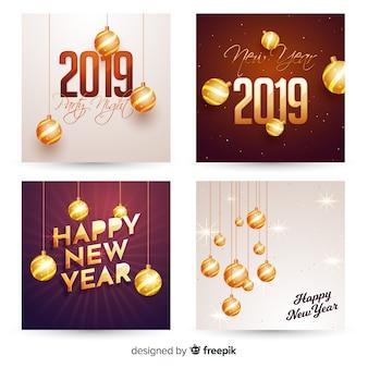 Carte de voeux de la nouvelle année 2019