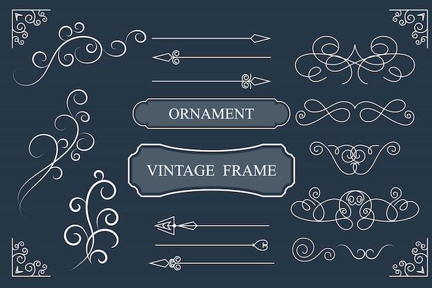 Carte de voeux d'ornement vintage