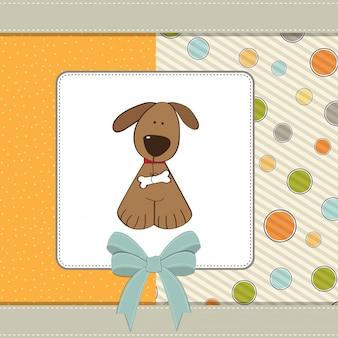 Carte de voeux avec petit chien