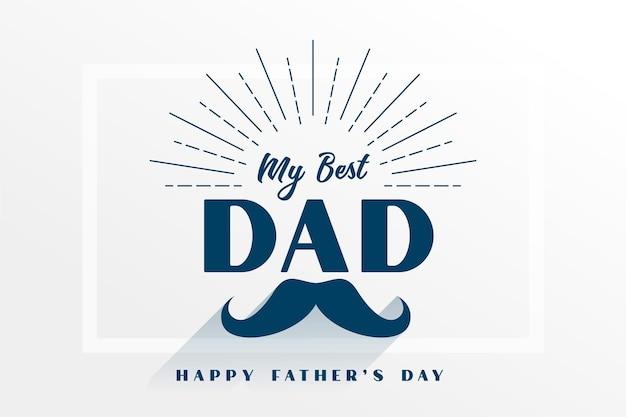 Carte de voeux plate de ma meilleure fête des pères de papa
