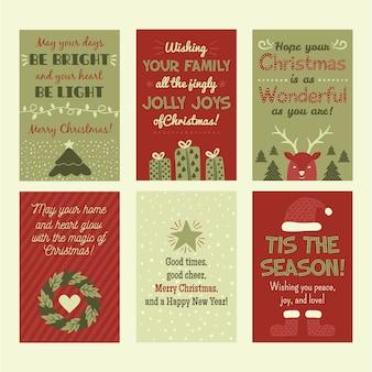 Carte de vœux plate pour le temps des fêtes, palette classique