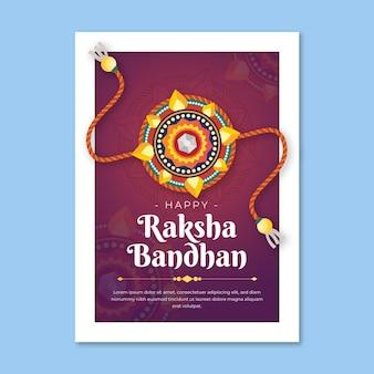 Carte de voeux plate raksha bandhan