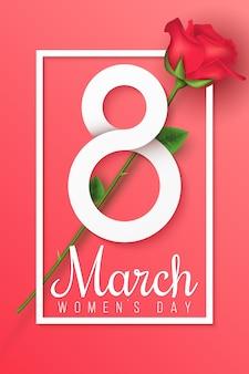 Carte de voeux pour le 8 mars. journée internationale de la femme.