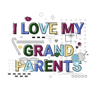 Carte de voeux pour la fête des grands-parents