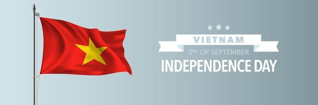 Carte de voeux pour la fête de l'indépendance du vietnam