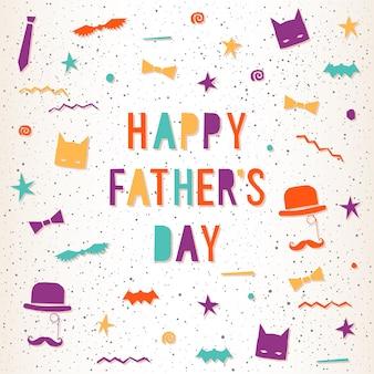Carte de voeux pour la fête des pères. illustration lumineuse pour carte de conception, invitation, t-shirt, album, album, affiche, bannière, etc.