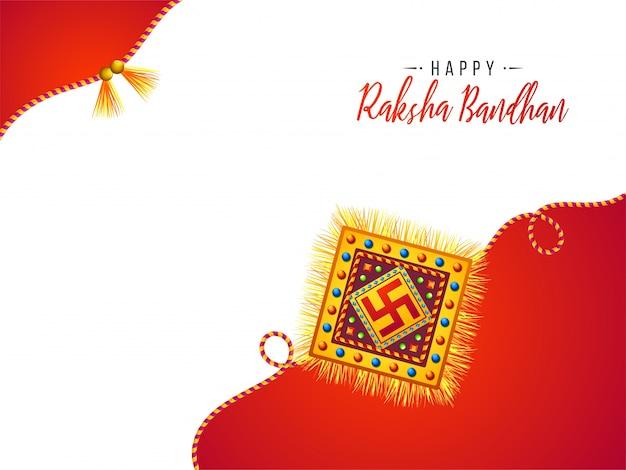 Carte de voeux pour happy raksha bandhan.