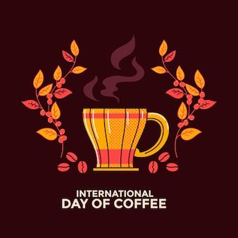 Carte de voeux pour la journée internationale du café
