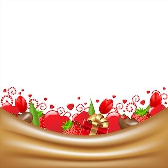 Carte de voeux pour la saint-valentin,