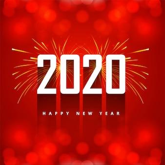 Carte de voeux pour le texte créatif 2020 du nouvel an
