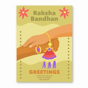 Carte de voeux raksha bandhan dessiné à la main