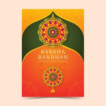 Carte de voeux raksha bandhan