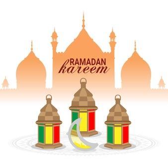 Carte de voeux ramadan kareem ou eid mubarak