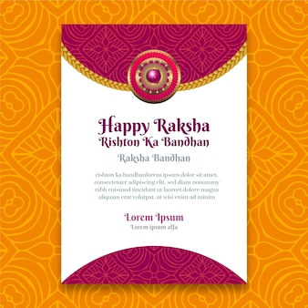 Carte de voeux réaliste raksha bandhan