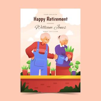 Carte de voeux de retraite dégradé