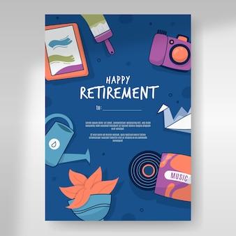 Carte de voeux de retraite dessinée à la main