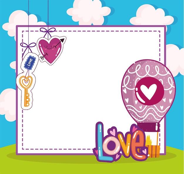 Carte de voeux romantique amour mignon