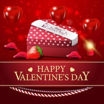 Carte de voeux rouge pour la saint valentin