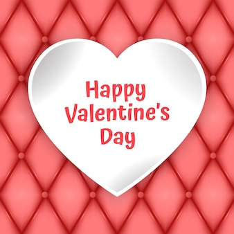 Carte de voeux saint valentin avec coeur en papier découpé et place pour le texte