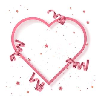 Carte de voeux saint valentin fond de voeux vector eps 10 format illustration
