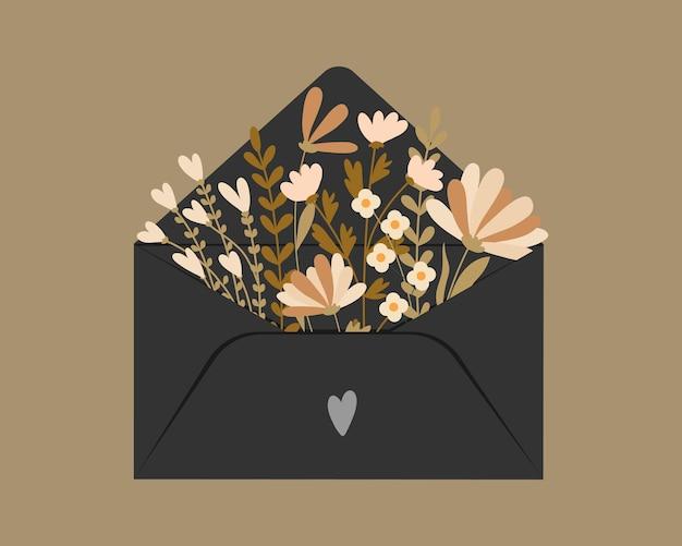 Carte de voeux de la saint-valentin. joyeuse journée de la femme
